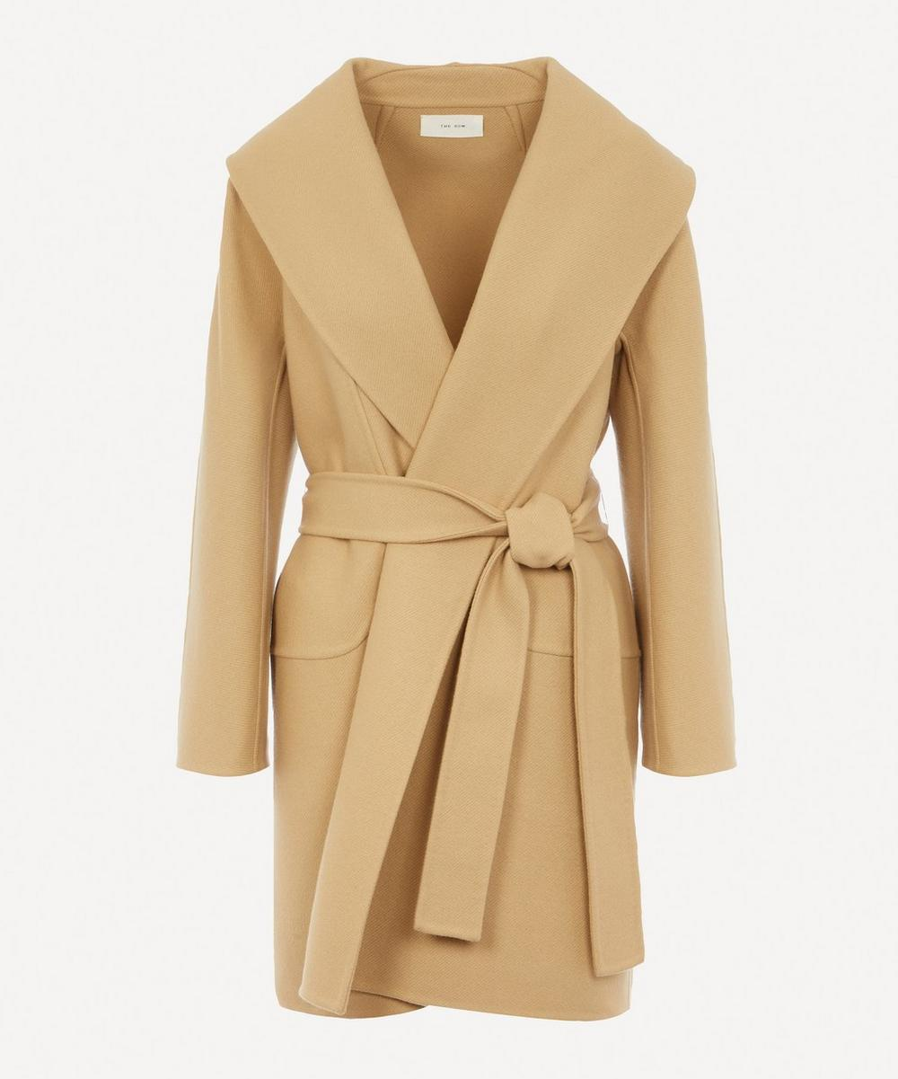 The Row - Maddy Wool Belted Robe Coat