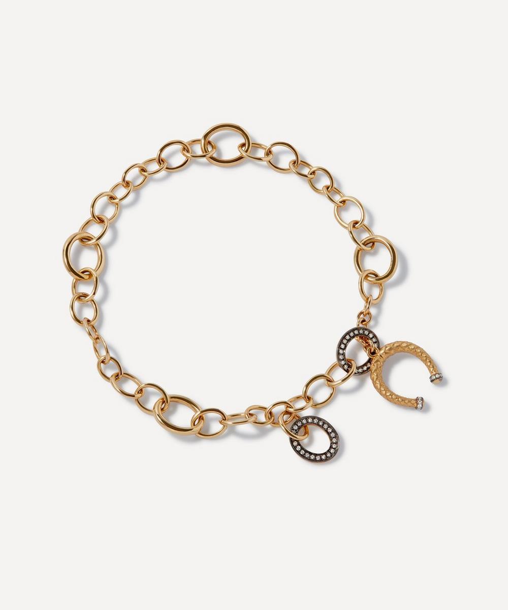Annoushka - x The Vampire's Wife 18ct Gold Diamond Charm Bracelet