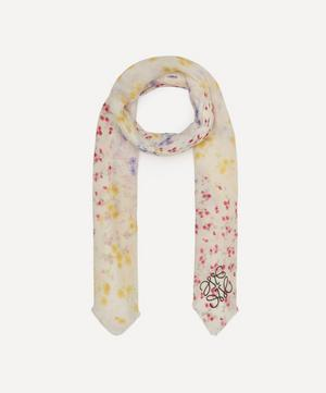 Flower Patchwork Modal and Cashmere-Blend Scarf