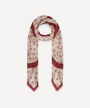 Flower Print Modal and Cashmere-Blend Scarf