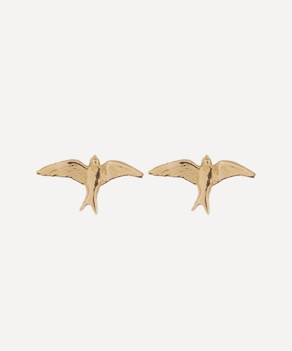 Alex Monroe - Gold Teeny Tiny Swallow Stud Earrings