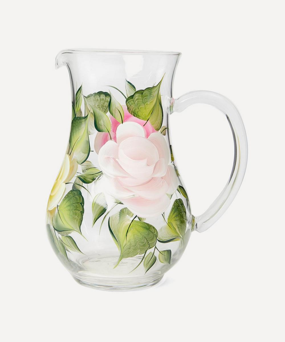 Petra Palumbo - Large Hand-Painted Rose Jug