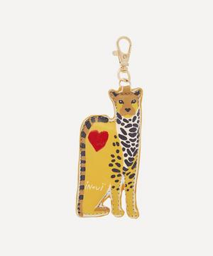 Chance Leopard Leather Key Chain