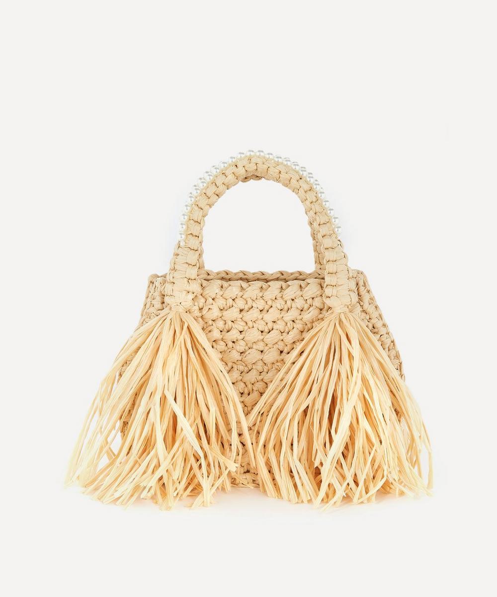 Simone Rocha - Mini Raffia Tote Bag