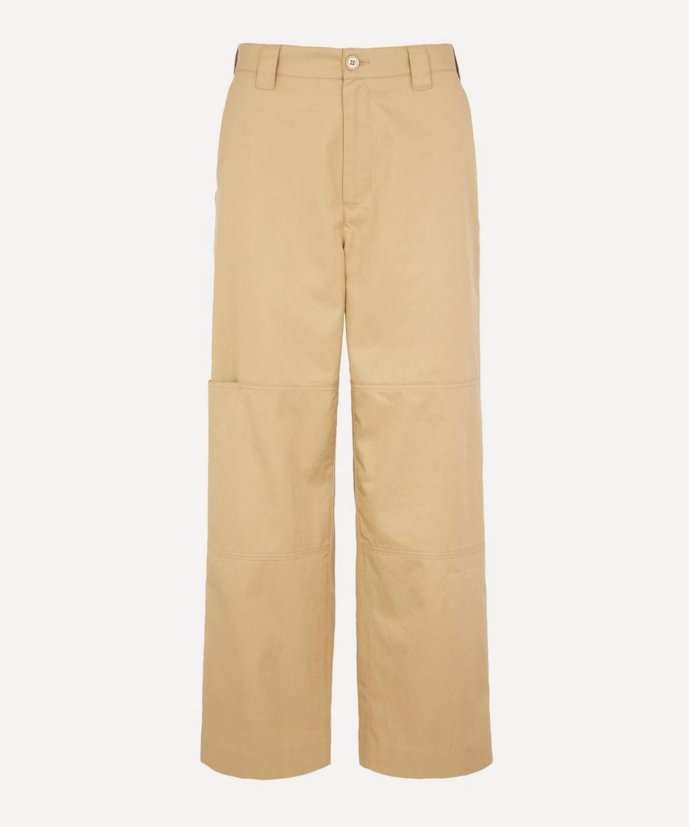 MM6 Maison Margiela - Cotton Twill Crop Trousers