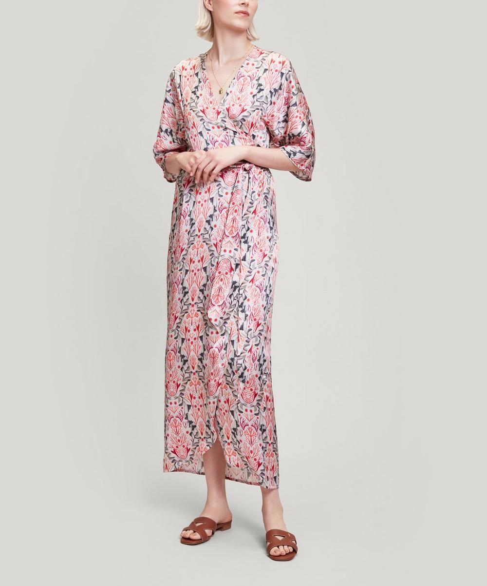 Liberty - Shirley Silk Satin Wrap Dress