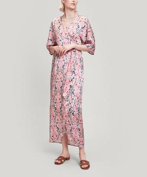 Shirley Silk Satin Wrap Dress