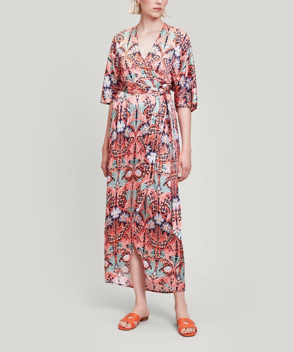Liberty - May Silk Satin Wrap Dress