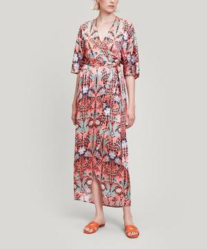 May Silk Satin Wrap Dress