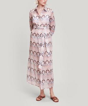 Ianthe Star Cotton Chiffon Shirt Dress