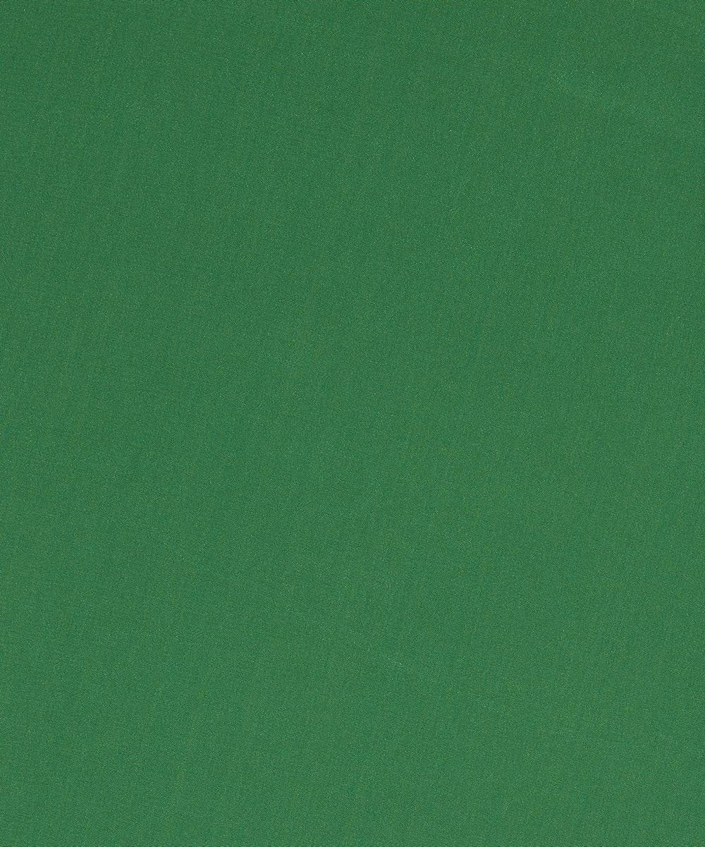 Liberty Fabrics - Emerald Plain Silk Crepe de Chine