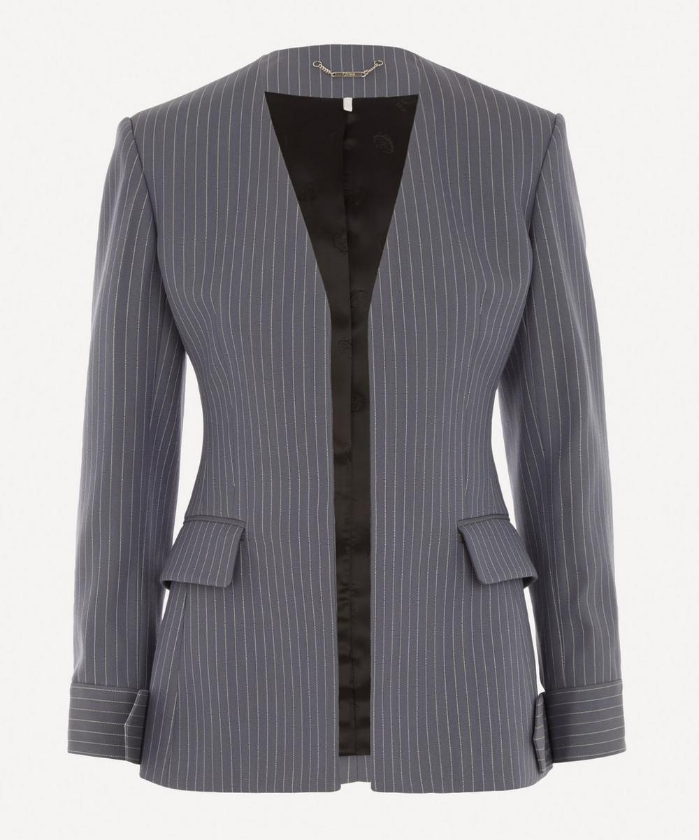 Chloé - Pinstripe Collarless Tailored Jacket