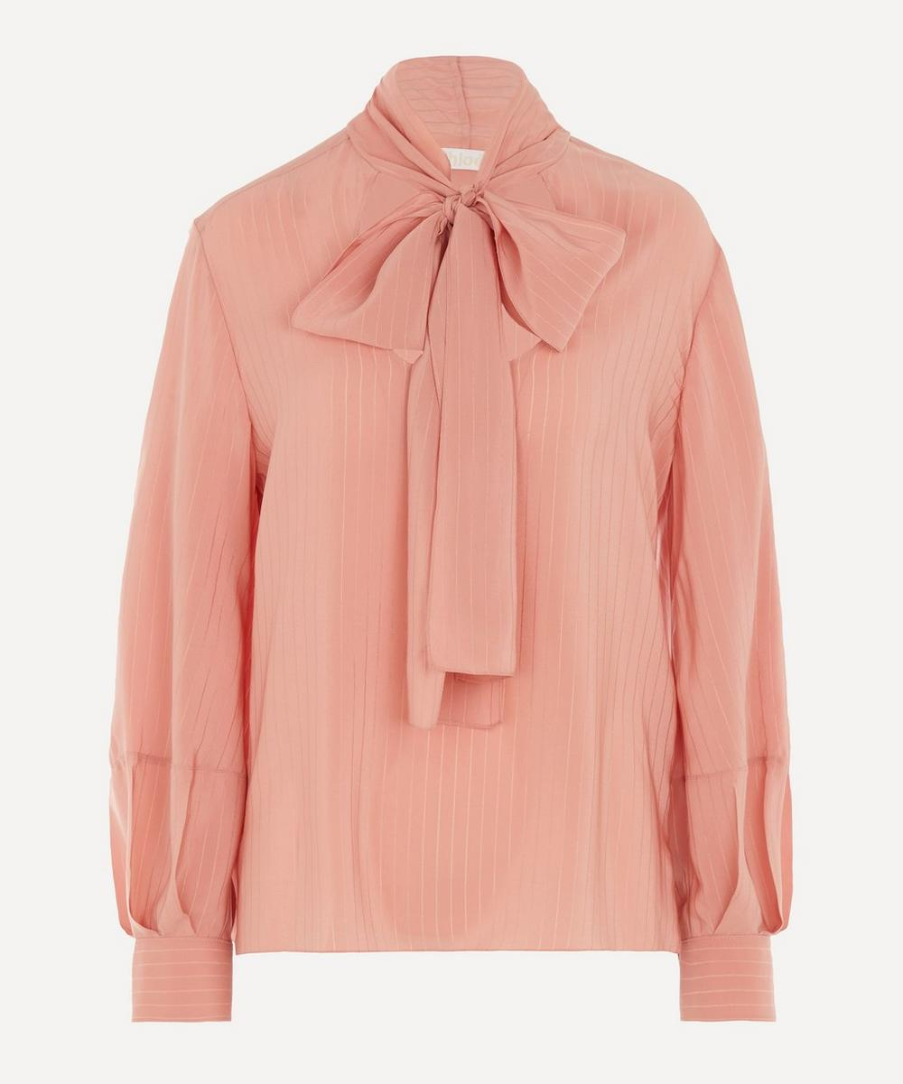 Chloé - Scoop-Neck Silk Blouse