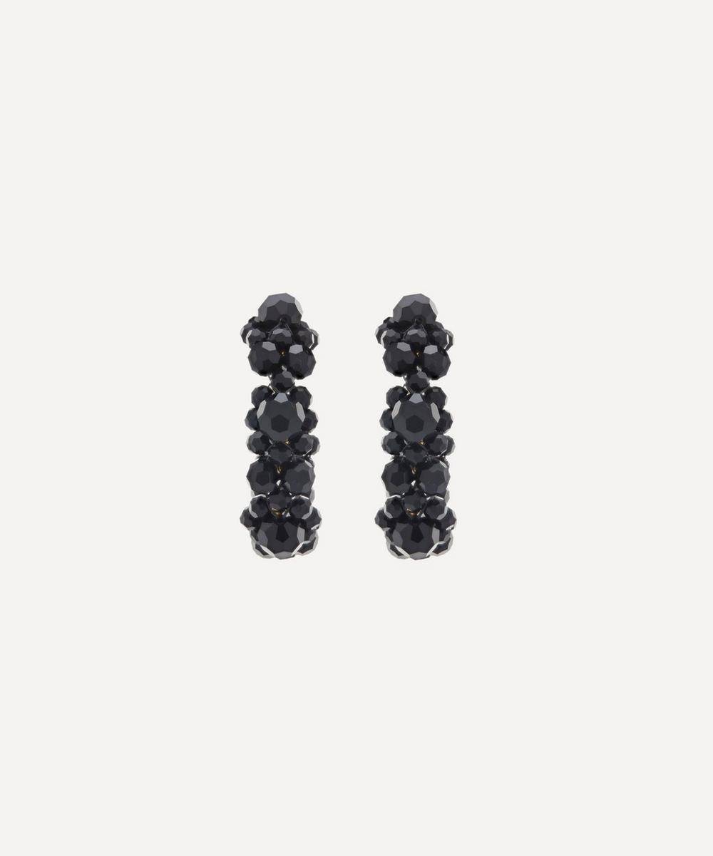 Simone Rocha - Beaded Daisy Hoop Earrings