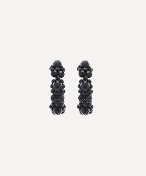Beaded Daisy Hoop Earrings