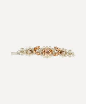 Crystal and Faux Pearl Flower Hair Clip