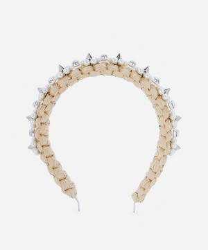 Crystal and Faux Pearl Raffia Headband