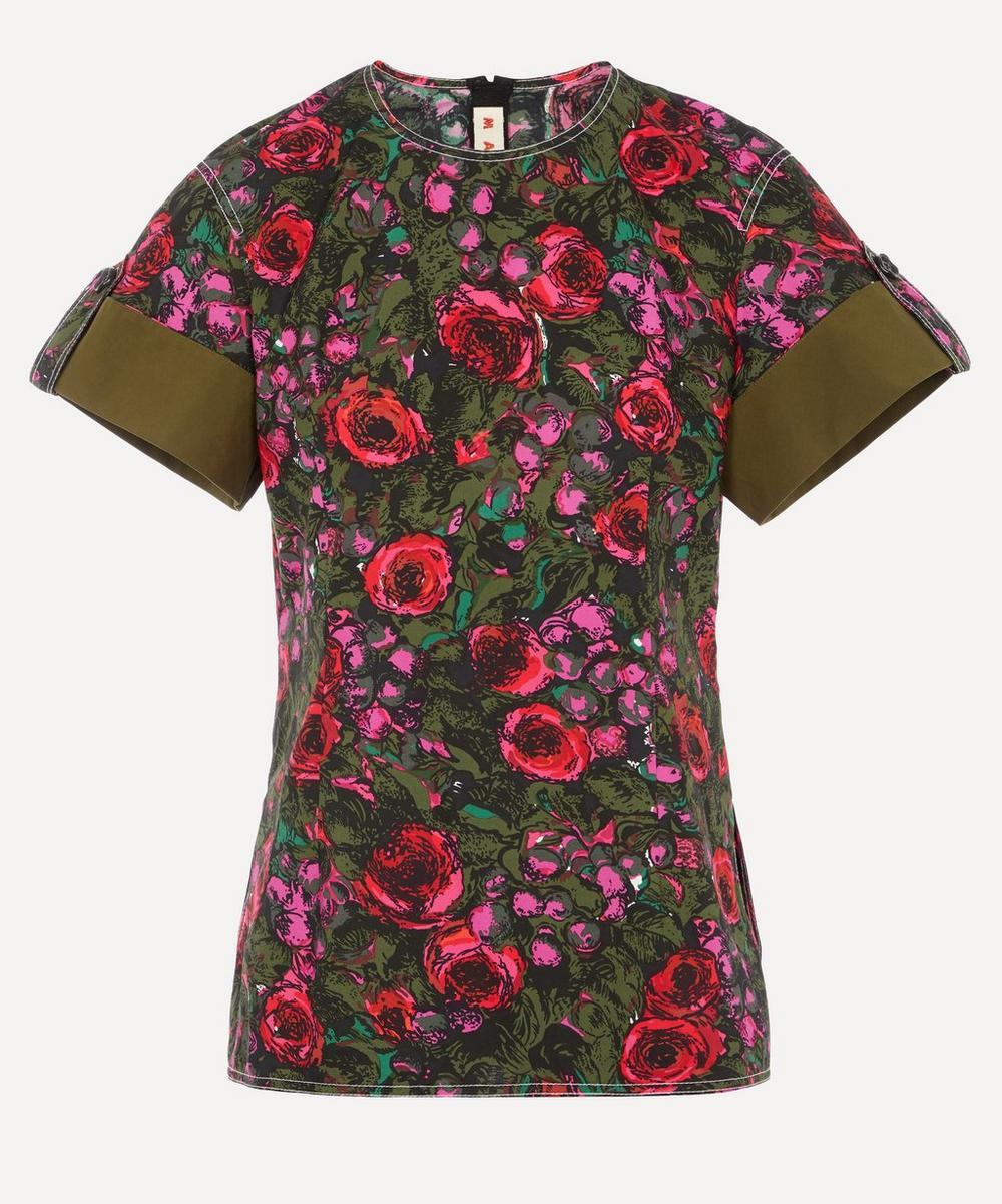Marni - Smudgy Floral Cotton T-Shirt