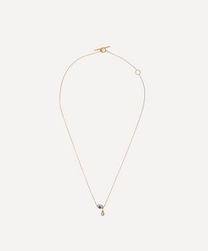 Gold-Plated Eye Teardrop Pendant Necklace