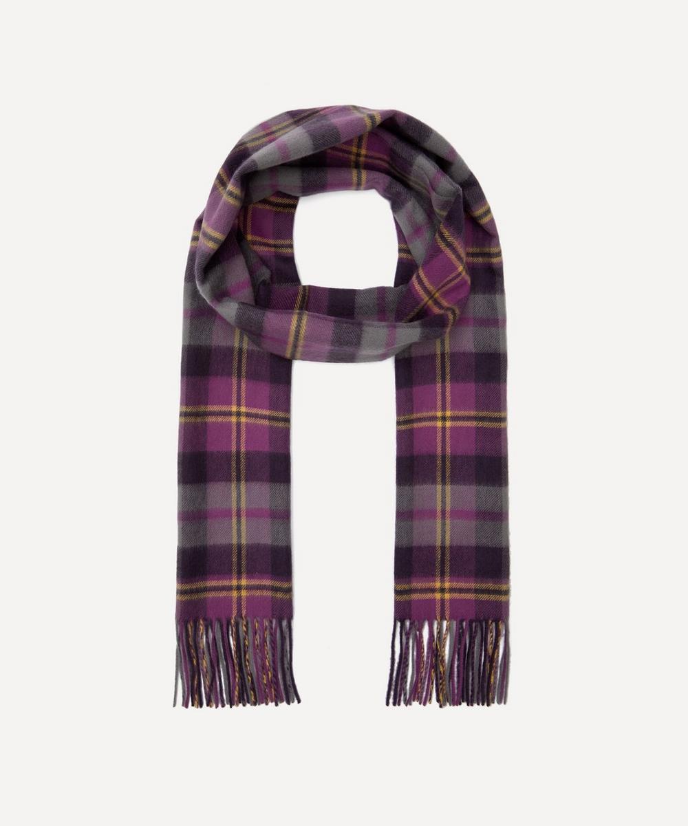 Johnstons of Elgin - Exclusive Purple Cashmere Tartan Scarf