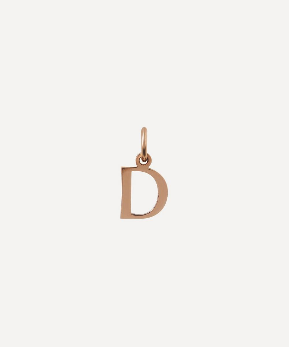 Liberty - 9ct Rose Gold Letter D Alphabet Pendant