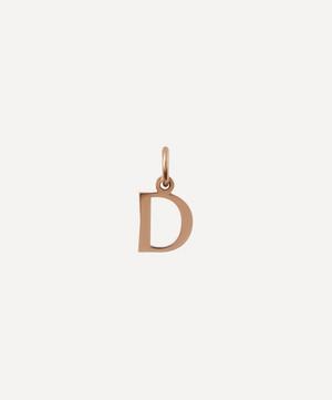 9ct Rose Gold Letter D Alphabet Pendant