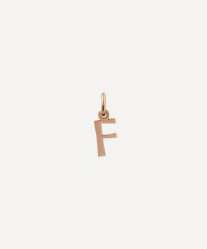 9ct Rose Gold Letter F Alphabet Pendant
