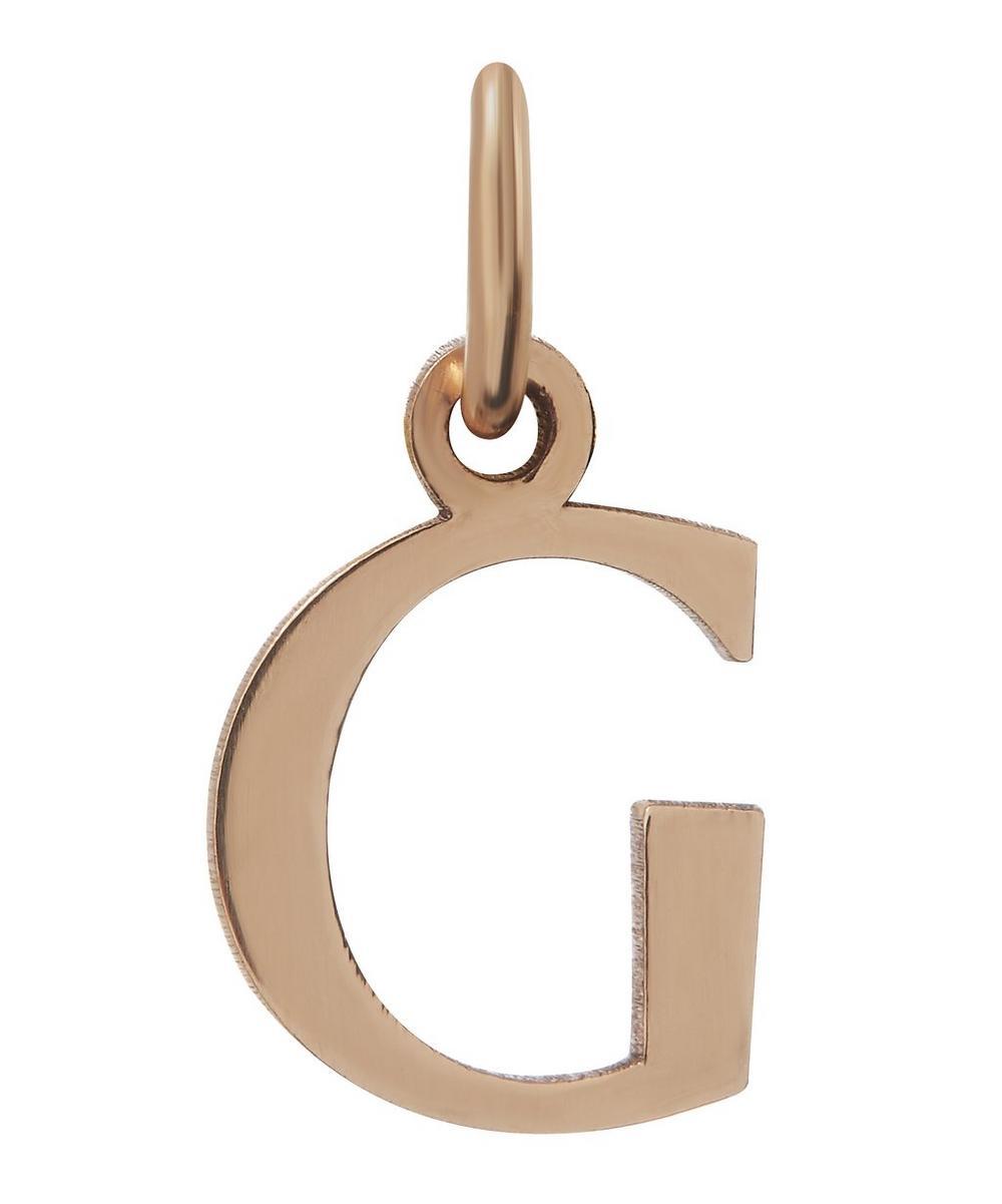 Liberty - 9ct Rose Gold Letter G Alphabet Pendant