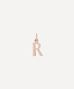 9ct Rose Gold Letter R Alphabet Pendant