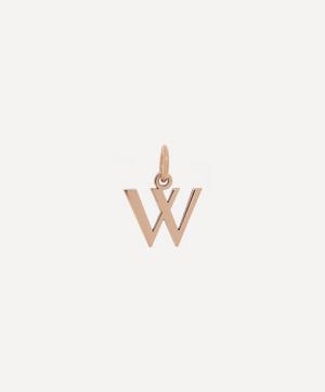 9ct Rose Gold Letter W Alphabet Pendant