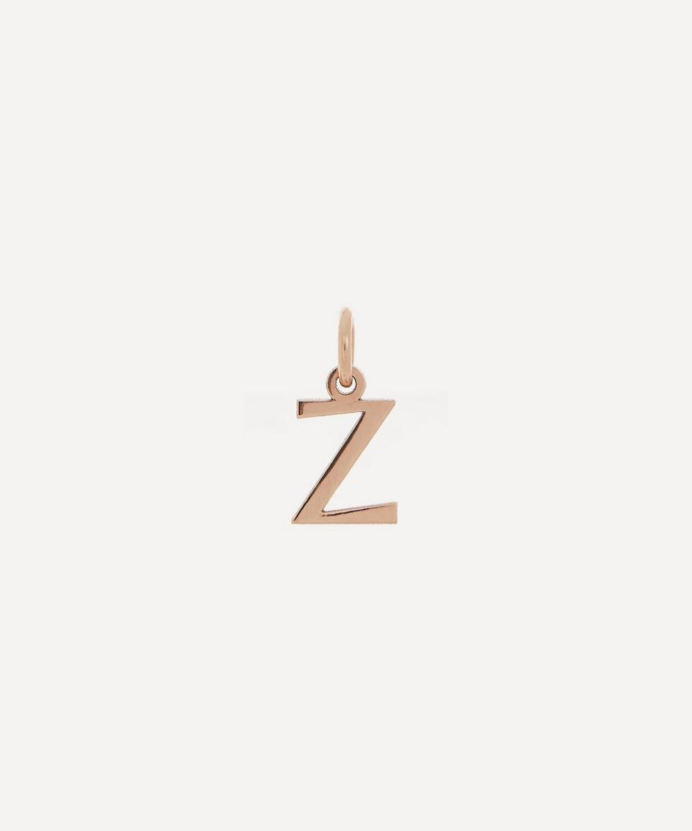 Liberty - 9ct Rose Gold Letter Z Alphabet Pendant
