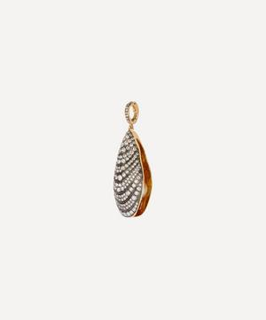 18ct Gold Mythology Diamond and Pearl Mussel Pendant