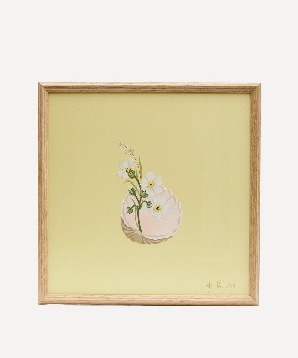 Isla Simpson - Dianthus and Shell Framed Artwork