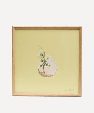 Dianthus and Shell Framed Artwork