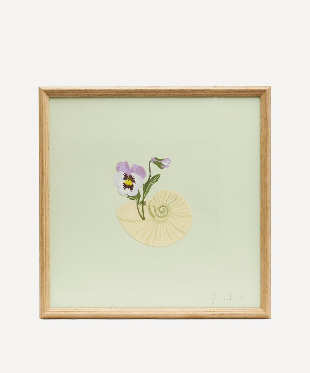 Isla Simpson - Pansy and Shell Framed Artwork