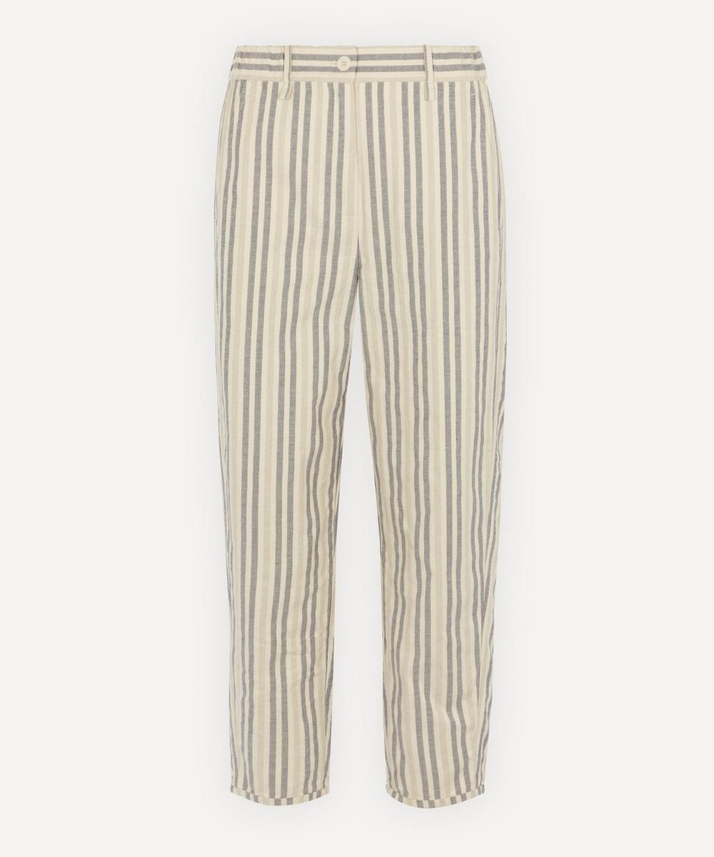 Annette Görtz - Bob Cotton and Linen-Blend Stripe Trousers
