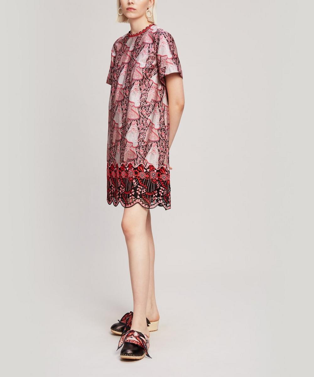 Liberty - Dora Cotton Sateen Mini T-Shirt Dress