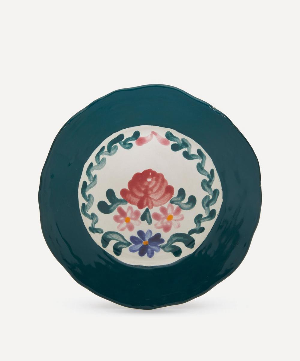 Zsuzsanna Nyul - Rose Green Dessert Plate