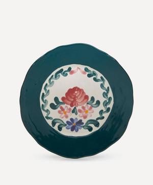 Rose Green Dessert Plate