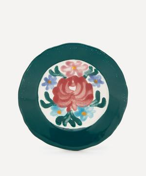 Rose Green Side Plate