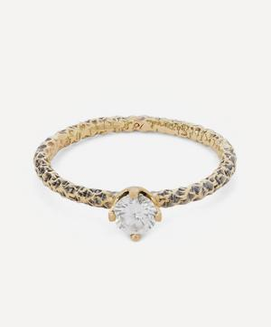 Gold Homespun Diamond Solitaire Ring