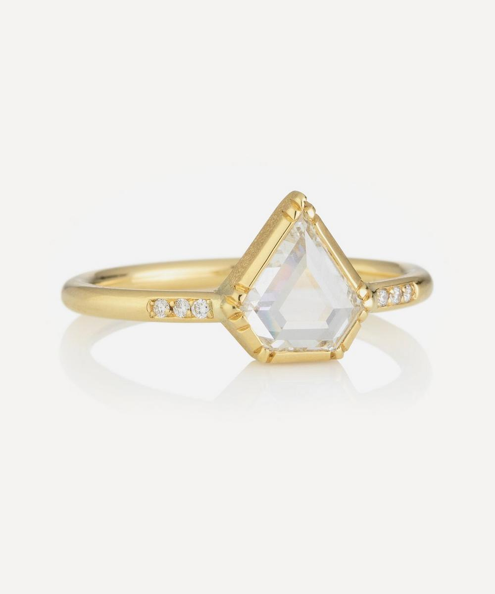 Brooke Gregson - Gold Princess Diamond Band Ring image number 0