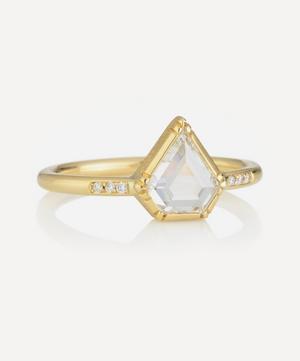 Gold Princess Diamond Band Ring