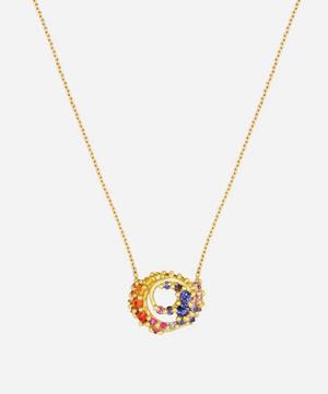 Gold Ursa Supernova Sapphire Pendant Necklace