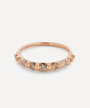 Rose Gold Lila Diamond Halo Ring