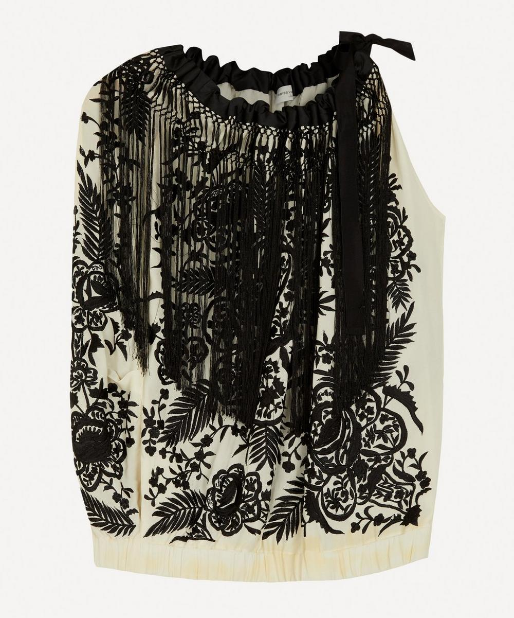 Dries Van Noten - Floral Embroidered One Sleeve Top