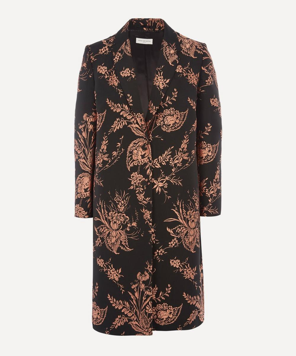 Dries Van Noten - Embroidered Floral Single-Breasted Coat