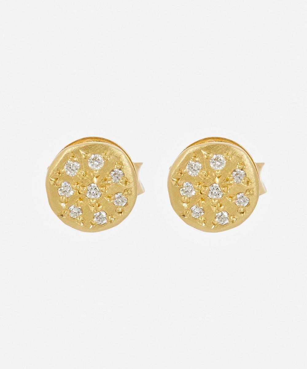 Brooke Gregson - Gold Mini Mars Diamond Stud Earrings