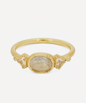 Gold Triple Geo Diamond Ring