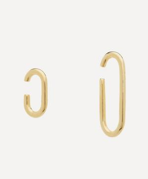 Gold-Plated Asymmetric Link Ear Cuffs